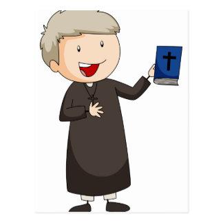 Priester Postkarte