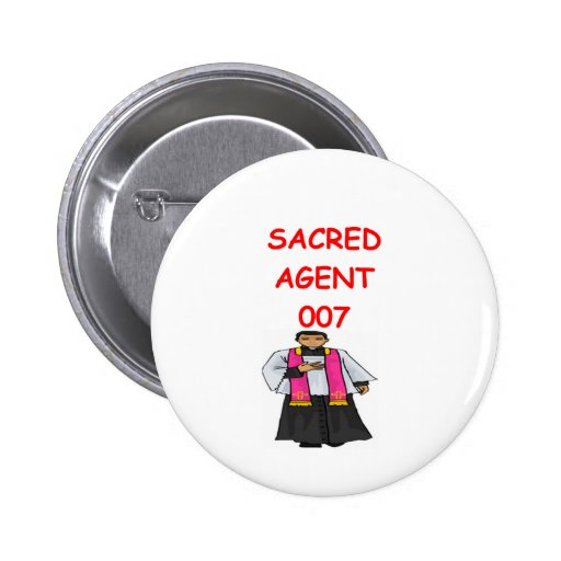 Priestergeheimnis-Agent Anstecknadelbuttons