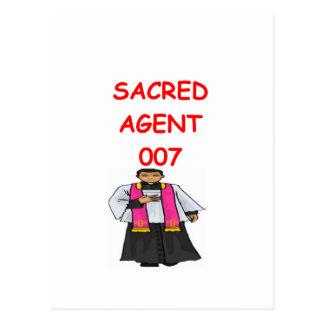Priestergeheimnis-Agent Postkarte