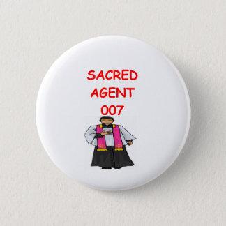 Priestergeheimnis-Agent Runder Button 5,1 Cm