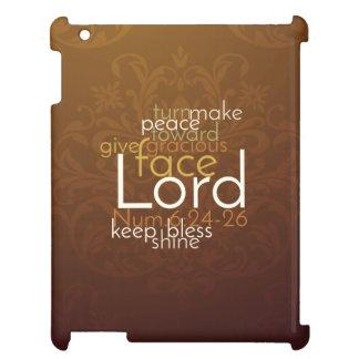 Priesterlicher Segen auf kupfernem Brown-Damast iPad Hülle