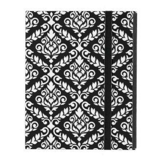 Prima Damast großes Ptn Weiß auf Schwarzem Etui Fürs iPad