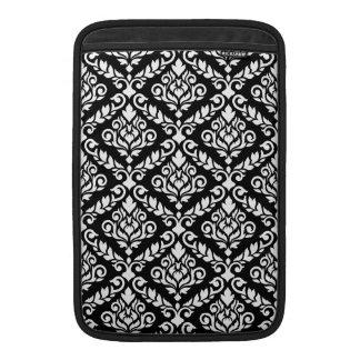 Prima Damast großes Ptn Weiß auf Schwarzem MacBook Air Sleeve
