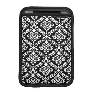 Prima Damast großes Ptn Weiß auf Schwarzem Sleeve Für iPad Mini