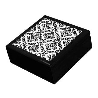 Prima Damast-Muster-Schwarzes auf Weiß Erinnerungskiste
