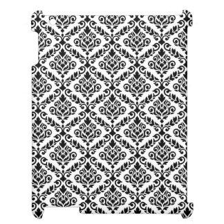 Prima Damast-Muster-Schwarzes auf Weiß iPad Hüllen