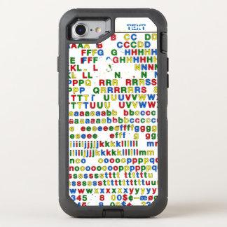 Primäralphabet-lateinische Buchstaben ABC bunt OtterBox Defender iPhone 8/7 Hülle