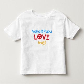 Primärfarben Nana und Papa-Liebe ich Kleinkinder T-shirt