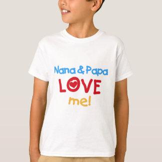 Primärfarben Nana und Papa-Liebe ich T-Shirt