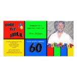 PrimärfarbFoto-Überraschungs-60. Geburtstags-Party Individuelle Foto Karte