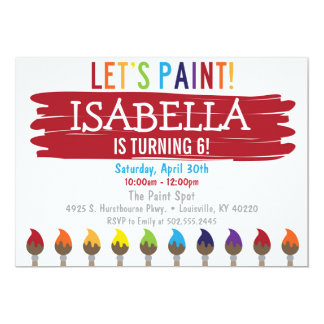 Primärfarbmalerei-Geburtstags-Party Einladung