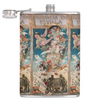 """""""Primavera Vintage Kunstflaschen en Sevilla"""" Flachmann"""