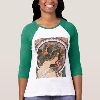 Primel durch Mucha - Vintage Blumenkunst Nouveau T-Shirt