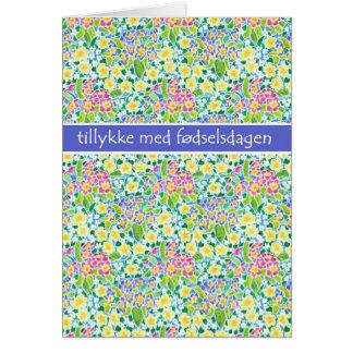Primel-Geburtstags-Karte, dänischer Gruß Karte