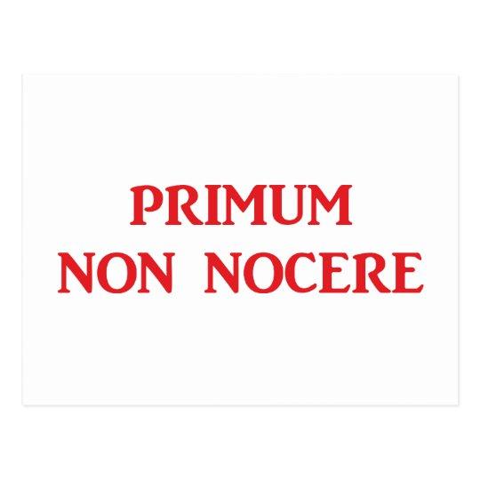 Primum non nocere - Zuerst einmal nicht schaden Postkarte
