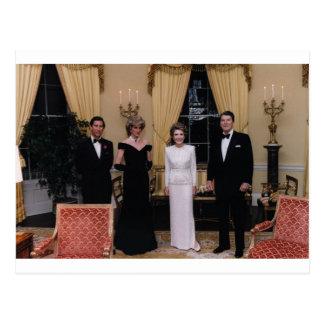 Prince_Charles, _Princess_Diana, _Nancy_Reagan, Postkarte