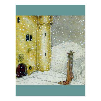 Princessa durch Snowy-Schloss Postkarten