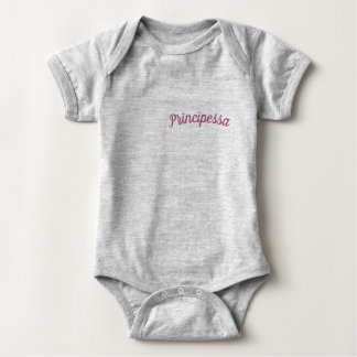Principessa/Bodysuit Prinzessin-Baby, grau Baby Strampler