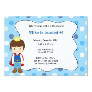 Prinz Boy Birthday Invitation Karte