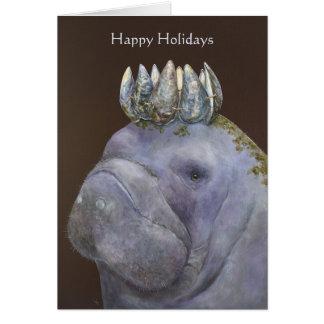 Prinz der glücklichen Feiertagskarte der lila Grußkarte