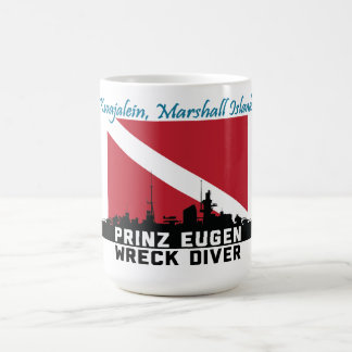Prinz Eugen die Wrack-Taucher Kwajalein Kaffeetasse