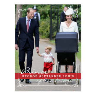 Prinz George - Prinzessin Charlotte - William Kate Postkarte