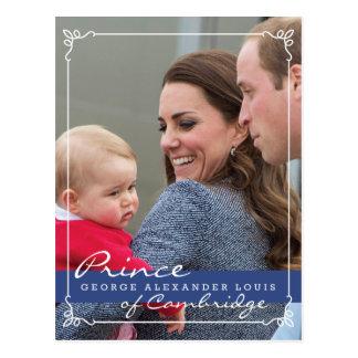 Prinz George - William u. Kate Postkarte