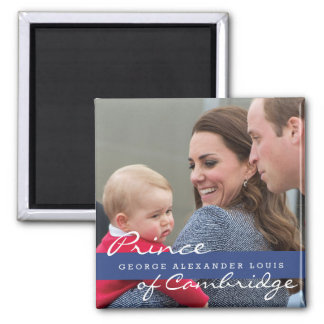 Prinz George - William u. Kate Quadratischer Magnet