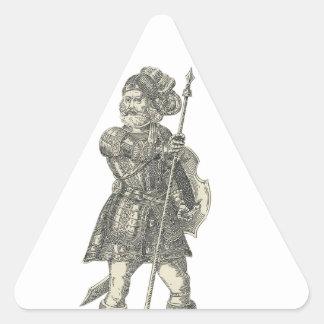 Prinz Henry von Portugal Dreieckiger Aufkleber