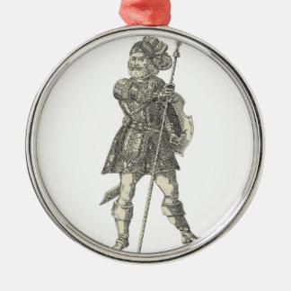 Prinz Henry von Portugal Rundes Silberfarbenes Ornament