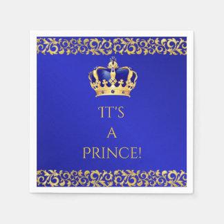 Prinz Königsblau u. Goldkrone Serviette