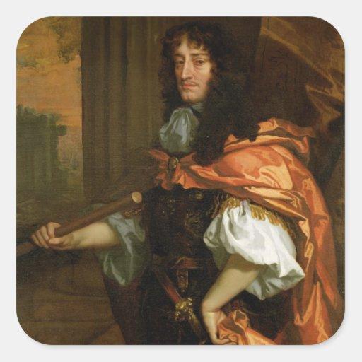 Prinz Rupert (1619-82), c.1666-71 (Öl auf Leinwand Quadrataufkleber