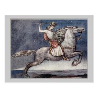 Prinz Throwing eine Stange Postkarte