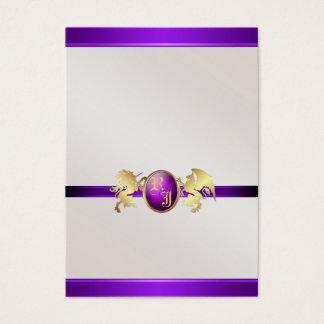 Prinz u. Prinzessin Purple Jewel Table Placecard 2 Visitenkarte