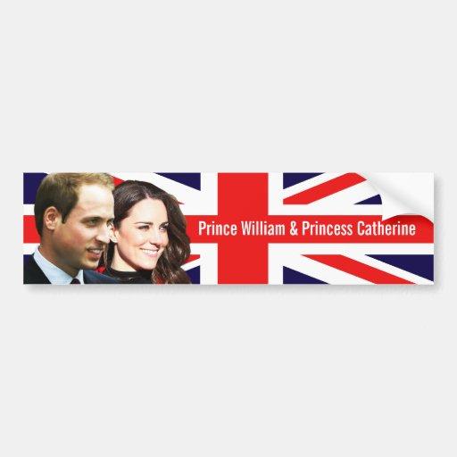 Prinz William u. Kate Autoaufkleber