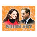 Prinz William u. Kate Middleton Postkarte