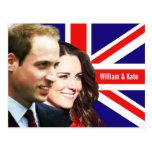 Prinz William u. Kate Postkarte
