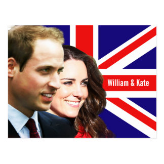 Prinz William u. Kate Postkarte