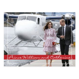 Prinz William und Catherine Postkarte
