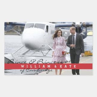 Prinz William und Catherine Rechteckiger Aufkleber