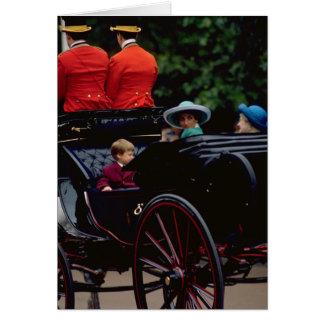 Prinz William und Prinzessin Diana auf dem Mall Karte