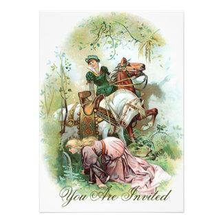 Prinzen In Pink Dress Ankündigungskarte
