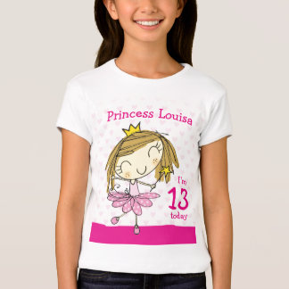 Prinzessin 13. Geburtstag MÄDCHEN-T - SHIRT Alters