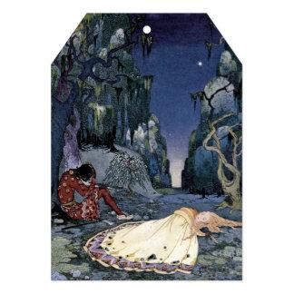 Prinzessin Asleep im Wald Personalisierte Einladung