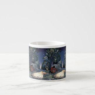 Prinzessin Asleep im Wald Espresso-Tasse