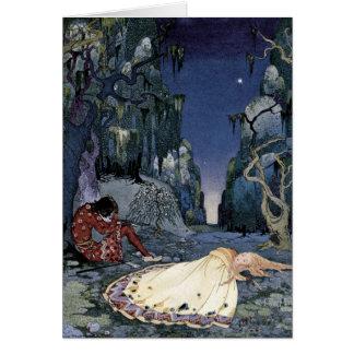 Prinzessin Asleep im Wald Karten