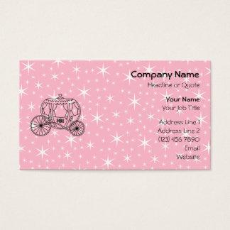 Prinzessin Coach Design im Schwarzen und im Rosa Visitenkarte