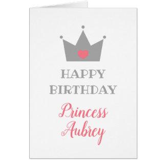 Prinzessin Crown - Kalligraphie-Name - alles Gute Karte