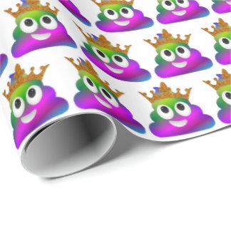 Prinzessin Crown Rainbow Emoji Poop Geschenkpapier