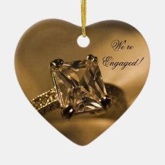 Prinzessin Cut Diamond Engagement Ring Keramik Ornament